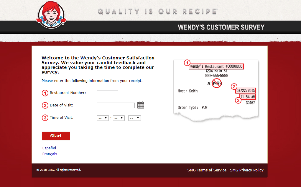 TalkToWendys.com survey